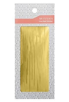 Missha Line Nail Sticker (Gold)