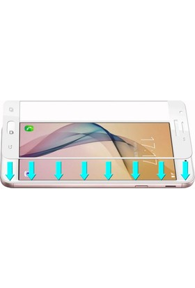 Dafoni Samsung Galaxy C9 Pro Curve Tempered Glass Premium Full Cam Ekran Koruyucu