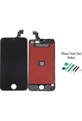 Casecrown iPhone 5c Siyah Ekran Lcd Tamir Seti Hediyeli
