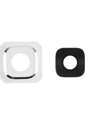 Casecrown Samsung Galaxy S6+ Edge Plus G928 Orj Kamera Lens - Beyaz
