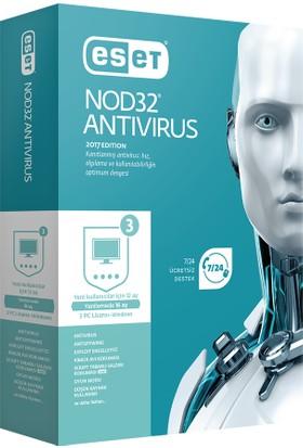 Eset NOD32 Antivirus V10 - 3 Kullanıcı Kutu ENA3