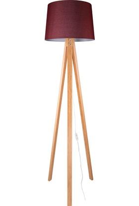 Deko Tripod Lambader Bambu Ayak / Bordo Şapka