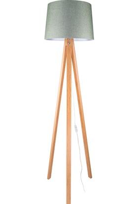 Hepsiburada Home Deko Tripod Lambader Bambu Ayak / Yeşil Şapka