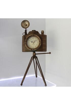 Klc Dekoratif Fotograf Makinası Saat