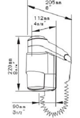 Bauboss Xinda RCY120-18A 1200W Tıraş Prizli Saç Kurutma Makinesi
