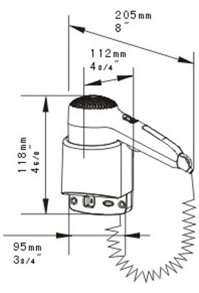 Bauboss Xinda RCY120-18A1 1200W Saç Kurutma Makinesi