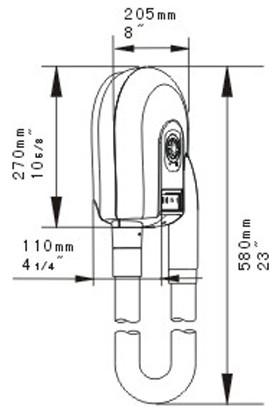 Bauboss Xinda GDC100-15 Hortumlu 1000W Saç Kurutma Makinesi