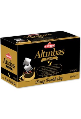 Çaykur Altınbaş Klasik Kolay Demlik Çay 200 Gr (40 Demlik)