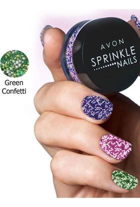 Avon Tırnak Havyarı Sprinkle Nails 8gr. Green Confetti