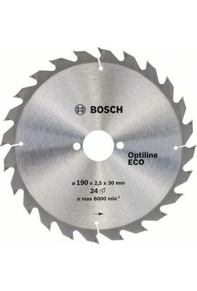 Bosch Optiline Eco 190 x 30 Mm 24 Diş 2608641789