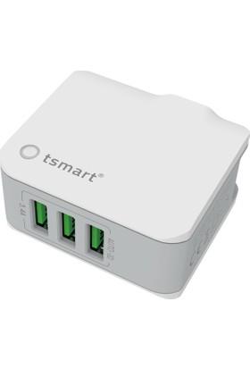 Tsmart Micro Şarj Kablolu Tsmart 3 Usb Seyahat Şarj Seti