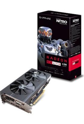 Sapphire NITRO Amd Radeon RX 470 D5 4GB OC 256Bit GDDR5 (DX12) PCI-E 3.0 Ekran Kartı 11256-10-20G