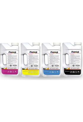 Photo Ink Epson Claria Ve L Serisi Yazıcılar İçin Uyumlu 4X1000 Ml Mürekkep Seti