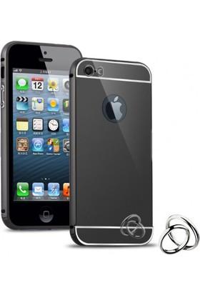 Kılıfkutusu Apple iPhone 5S Aynalı Metal Bumper Çerçeve Kılıf