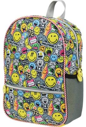 Smiley Style Anaokulu Çantası Tek Gözlü