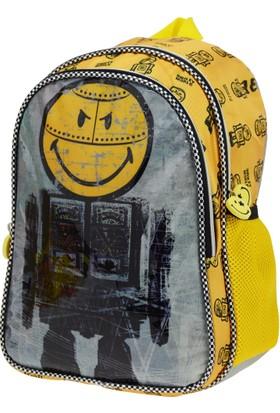 Smiley Robot Anaokulu Çantası İki Gözlü