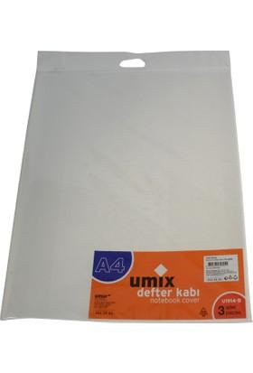 Umix Bantlı A4 Defter Kabı 3'lü-Şe