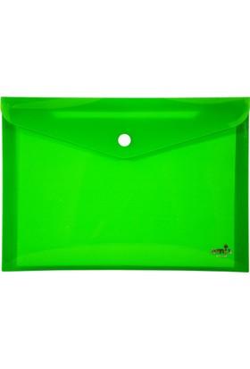 Umix Çıtçıtlı Zarf Dosya A5 Neon Yeşil