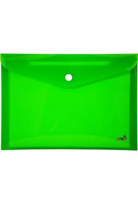 Umix Çıtçıtlı Zarf Dosya A4 Neon Yeşil