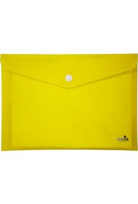 Umix Çıtçıtlı Zarf Dosya A4 Neon Sarı