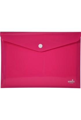 Umix Çıtçıtlı Zarf Dosya A4 Neon Pembe