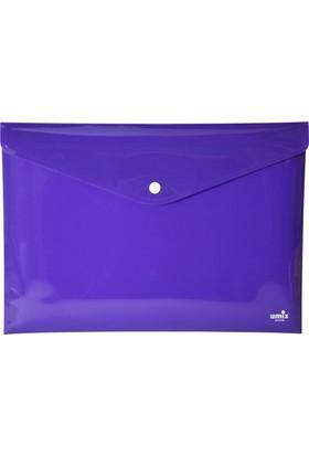 Umix Çıtçıtlı Zarf Dosya A4 Neon Mor