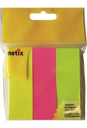 Notix Kağıt Ayraç 3 Renkx100yp Asmalı