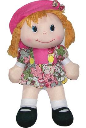 CC Oyuncak Çiçekli Koyu Renkli Elbiseli Bez Bebek