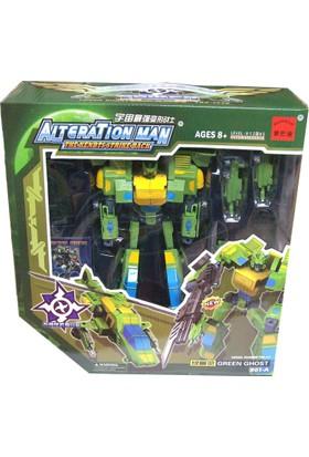 CC Oyuncak Dönüşebilen Robot - Green Ghost