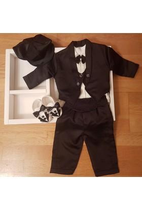 KidsTrend Erkek Bebek Papyonlu Smokin Mevlüt Düğün Nişan Kına Takımı 0 - 6 Ay Doğum Hediyesi
