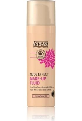 Lavera Hafif ve Organik Sıvı Fondöten - Orta Cilt Tonları için Ballı Kum Rengi ( Honey Sand No. 03) 30 ml.