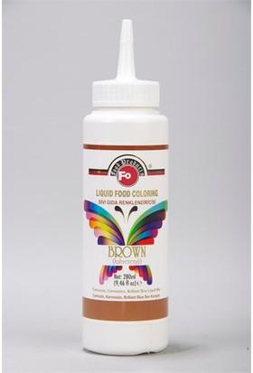 Fo Kahverengi Sıvı Gıda Boyası 280Ml