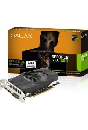 Galax Nvidia GeForce GTX1050 OC 2GB 128Bit GDDR5 (DX12) PCI-E 3.0 Ekran Kartı 50NPH8DSN8OC
