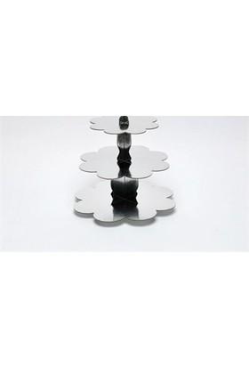 Sweetsorcery Gümüş Yaldız Cup Cake Standı