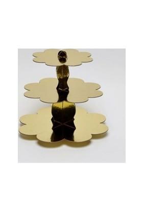 Sweetsorcery Altın Yaldız Cup Cake Standı