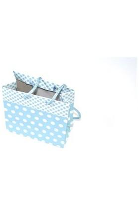 Sweetsorcery Mavi Puantiyeli 11 X11 Cm Karton Poşet