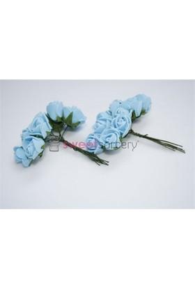 Sweetsorcery Mavi Büyük Lateks Gül 2.5X2 Cm