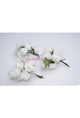 Sweetsorcery Beyaz Büyük Lateks İncili Gül