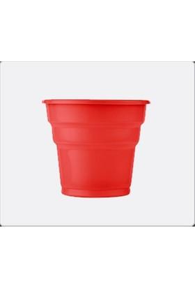 Sweetsorcery Kırmızı Plastik Bardak (25 Adet)