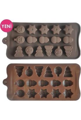 Sweetsorcery Yılbaşı Modeli Silikon Çikolata Kalıbı