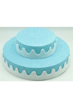 Sweetsorcery İki Katlı Pasta Şeklinde Mavi Kurabiye Standı