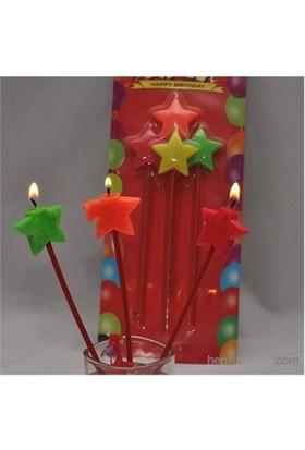 Sweetsorcery Uzun Yıldız Mum 4'Lü