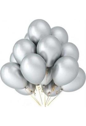 Sweetsorcery Gümüş Metalik Balon 8'Li