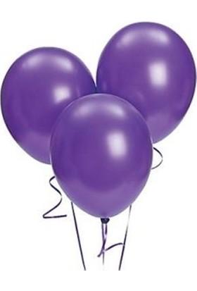 Sweetsorcery Mor Metalik Balon 8'Li