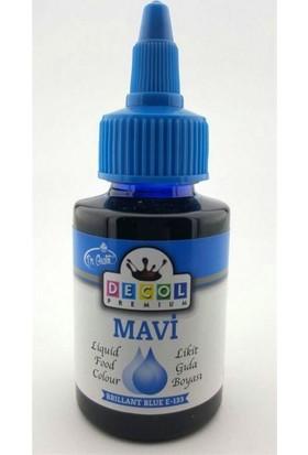 Decol Sıvı Mavi Gıda Boyası 60 Ml