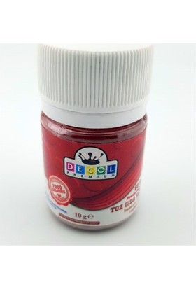 Decol Toz Kırmızı Gıda Boyası 10 G