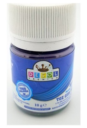 Decol Toz Mavi Gıda Boyası 10 G