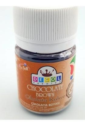 Decol Yağ Bazlı Kahverengi Çikolata Boyası