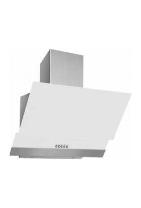Oscar 5668 ,Beyaz 60 Cm , Eğik, Cam Davlumbaz