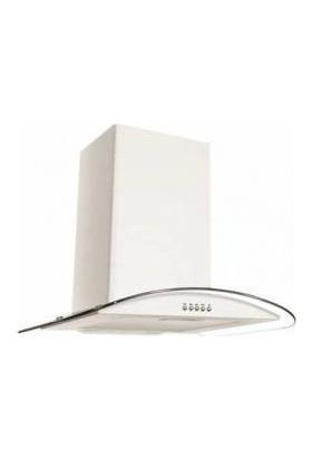 Oscar 5632 Beyaz 60 Cm Oval Cam Davlumbaz